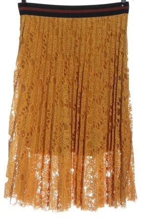 SusyMix Koronkowa spódnica jasny pomarańczowy W stylu casual