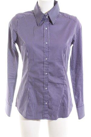 Sutherland Camicia a maniche lunghe lilla motivo a righe stile professionale