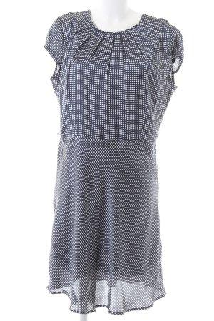 SuZa Blusenkleid blau-weiß Allover-Druck Casual-Look
