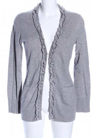 Suzanna Cardigan hellgrau meliert Business-Look