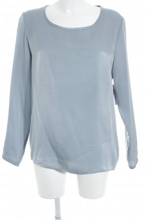 Suzanna Glanzbluse blassblau Business-Look