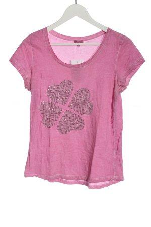 Suzanna T-Shirt pink-silberfarben meliert Casual-Look