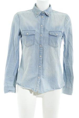 Suzanna Jeansowa koszula błękitny Jeansowy wygląd