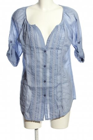 Suzanna Kurzarm-Bluse blau Casual-Look