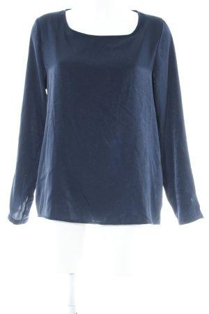 Suzanna Langarm-Bluse dunkelblau Casual-Look