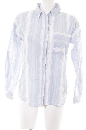 Suzanna Langarm-Bluse himmelblau-weiß Nadelstreifen Casual-Look
