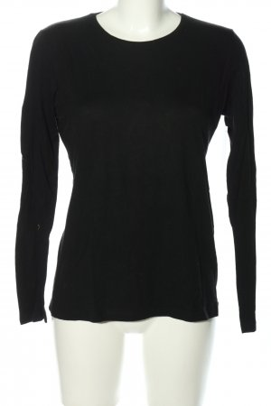 Suzanna Longsleeve schwarz Business-Look