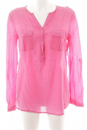 Suzanna Schlupf-Bluse pink Punktemuster Casual-Look