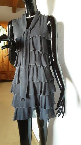 Suzanna Vestido estilo flounce gris oscuro