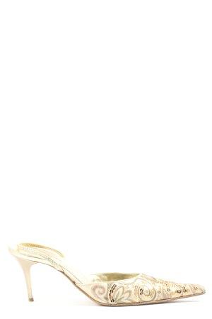Suzanna Escarpin à bride arrière blanc cassé-bronze style décontracté