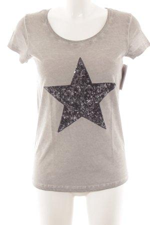 Suzanna T-Shirt hellgrau Casual-Look