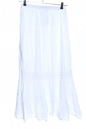 Suzanna Taffeta Skirt white casual look
