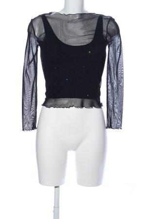 Suzanna Transparenz-Bluse schwarz Casual-Look
