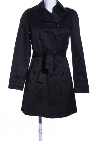 Suzanna Trenchcoat schwarz Business-Look