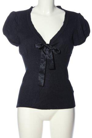 Suzanna V-Ausschnitt-Shirt schwarz Business-Look