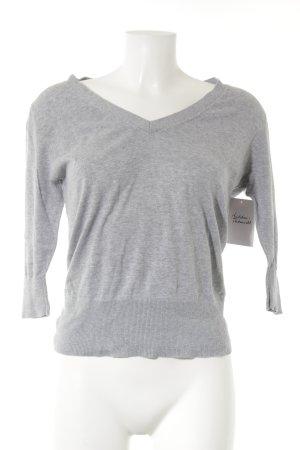 Suzanna V-Ausschnitt-Shirt grau meliert Casual-Look