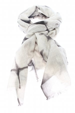 Suzusan Woolen Scarf black-light grey allover print casual look