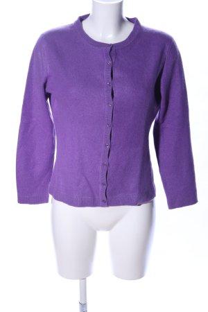 SVB Exquisit Strick Cardigan lila Casual-Look