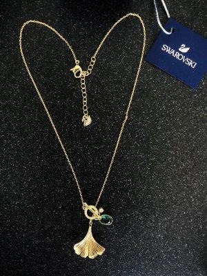 Swarovski 2021 Halskette 5515465 Stunning Ginko vergoldet grüner Kristall