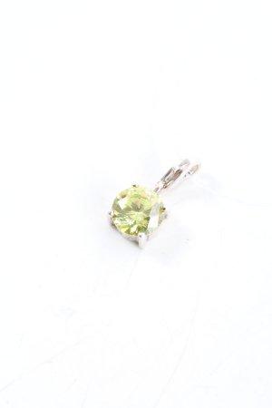 Swarovski Pendentif argenté-vert style décontracté