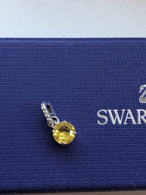 Swarovski Pendentif argenté-jaune