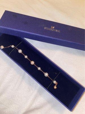 Swarovski Bracelet en perles or rose