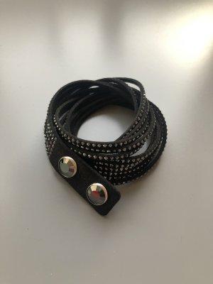 Swarovski Leather Bracelet black