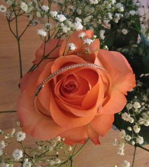 Swarovski Bangle rose-gold-coloured-white