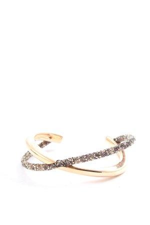 Swarovski Bracelet de bras doré style décontracté
