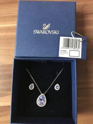 Swarovski Silver Chain steel blue