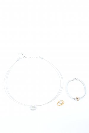 Swarovski Collier silberfarben-goldfarben Elegant