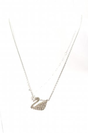 Swarovski Collar estilo collier color plata elegante