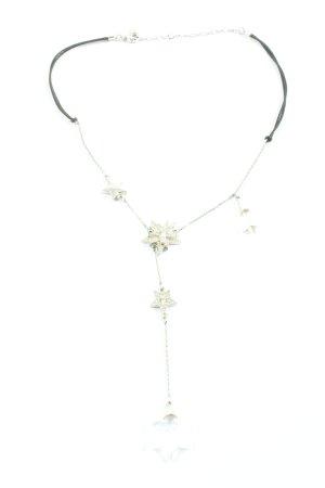 Swarovski Collier hellgrau-silberfarben Elegant