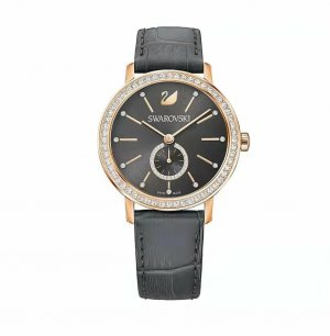 Svarowski Watch With Leather Strap multicolored