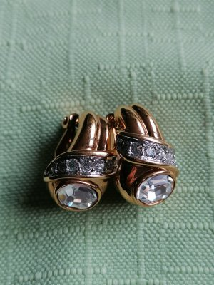 Swarovski Clip d'oreille doré