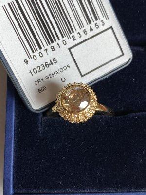 Swarovski Zdobiony pierścionek złoto