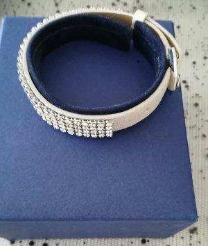 Swarovski Lederen armband licht beige