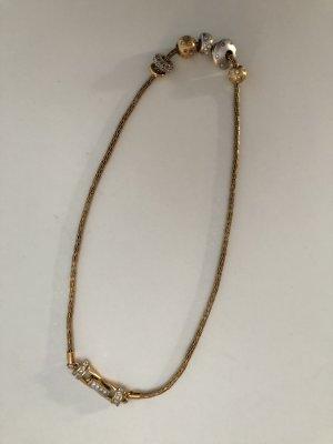 Swarovski Łańcuch złoto-srebrny
