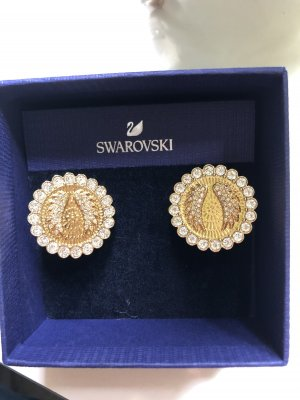 Swarovski Orecchino a clip bianco-oro
