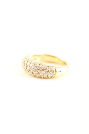 Swarovski Goldring goldfarben Elegant