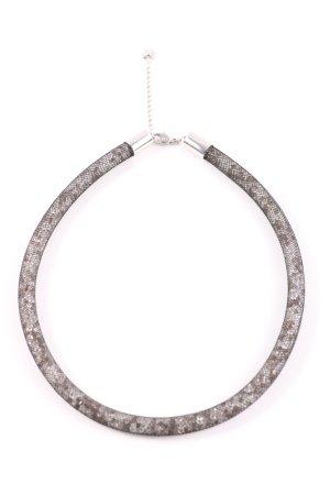 Swarovski Halskette schwarz-silberfarben Elegant