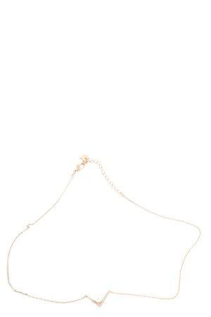 Swarovski Halskette goldfarben Business-Look