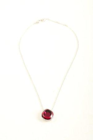 Swarovski Ketting rood-zilver elegant