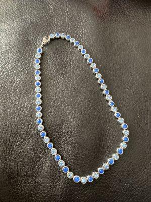 Swarovski Łańcuch jasnoniebieski-niebieski