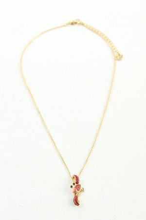 Swarovski Ketting goud-rood casual uitstraling
