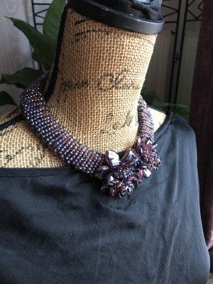Handgemacht Collier Necklace dark brown-black brown