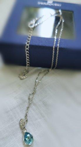 Swarovski Halskette hell blau Türkis neu