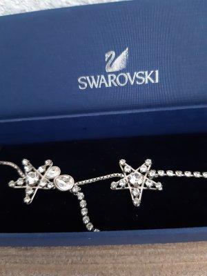 Swarovski Halskette mit Sternen, silber