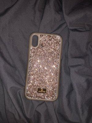 Swarovski Carcasa para teléfono móvil color rosa dorado