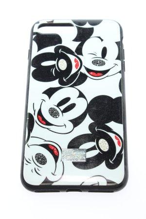 Swarovski Handytasche weiß-schwarz abstraktes Muster Casual-Look